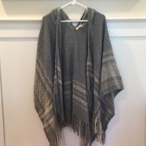 Hooded poncho wrap